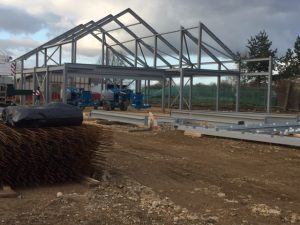 Village Hall steel frame