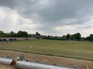 View across the Rec from the balcony across to the Bowls Club